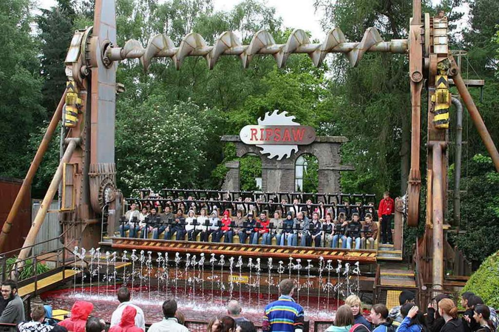 Ripsaw at Alton Tower, one of the best theme parks in the UK. This massive park is home to some seriously frightening rides.