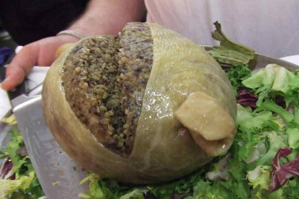 Haggis is one of the regional food delicacies in the UK