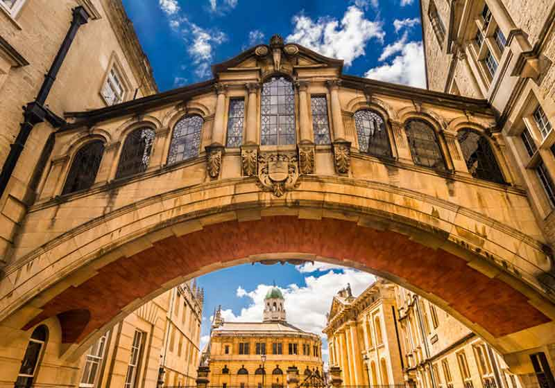 Our guide to Oxford will then take visitors to Hertford Bridge, but everyone knows this bridge as Bridge of Sighs.